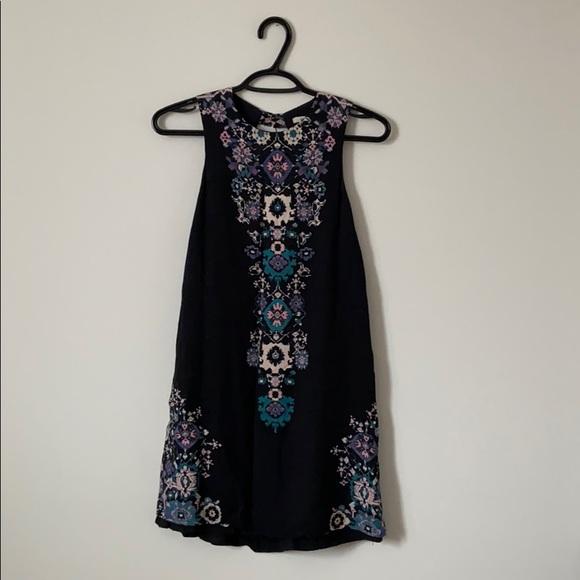 ecoté patterned mini dress